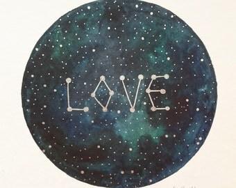 "original painting ""love galaxy"""
