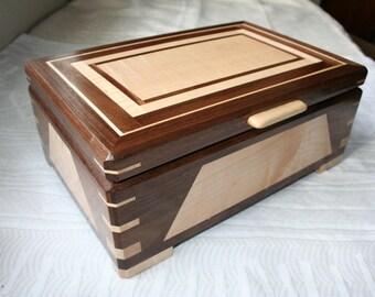 Wood Jewelry Box, Wooden Jewelry Box, Keepsake box, Jewelry Storage box, 2SWD