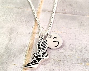 Track Necklace, track and field necklace, cross country, sprinter necklace, track coach, running necklace, personalized necklace