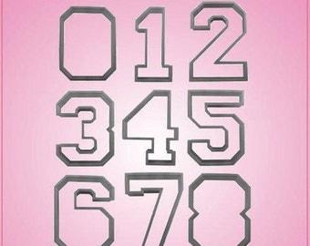 Varsity Number Cookie Cutter Set