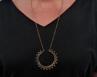 Brass Pendant, Brass Necklace, Boho Necklace, Tribal Brass Pendant, Tribal Necklace, Indian Jewellery, Gypsy Necklace, Boho Jewellery