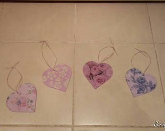 Beautiful hanging hearts