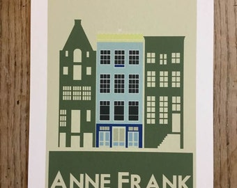 Anne Frank - Amsterdam - travel poster - ww2 - thejonesboys - the jones boys - Holland - Netherlands