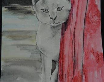"""cat/art/ """"PeekAboo"""""""
