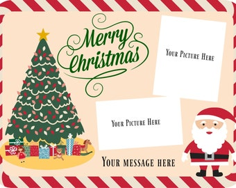 Merry Christmas Tree and Santa card