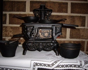 Vintage Crescent Cast Iron Stove