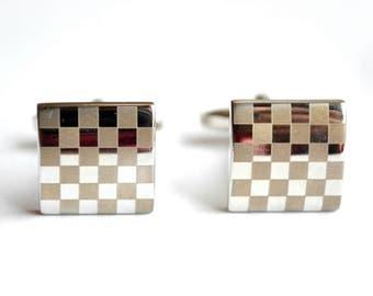 Men wedding cufflinks monogram stainless steel groom jewelry wedding gift silver plated