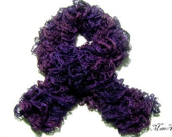 Knitted scarf, Fashion scarf, Ladies scarves, Purple Handmade scarf, Winter accessories, Sciarpa