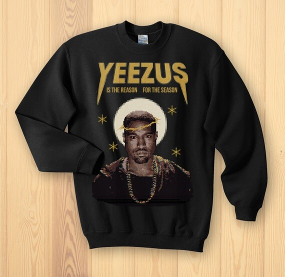 Kanye West Yeezus Ugly Christmas Sweater by KippCreations on Etsy