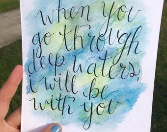 Watercolor Wash Calligraphy - 6x8