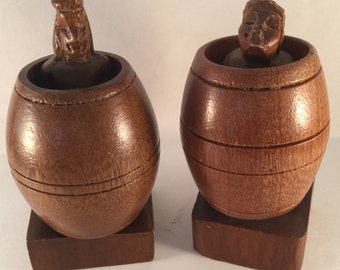 Naughty Male and Female Figures in a Barrel