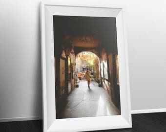 "Berlin Photography, ""Yellow"" Print Wall Art Decor Gift Apartment Art Travel"