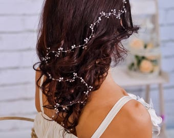 Crystal headband Bridal hair vine Wedding hair vine Bridesmaid hairpiece Crystal crown Silver tiara Bridal jewelry Wedding headpiece