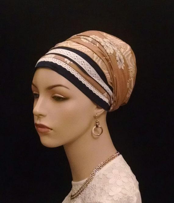 Lace and cotton, sinar tichels, apron tichels, head wraps, hair wraps, mitpachat