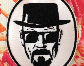 Walter White patch, Heisenberg, Breaking bad, Bryan Cranston, meth patch, gift under 10, gift for her, gift for him, stocking stuffer,