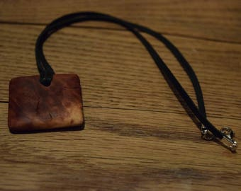 Red Mallee Burl Pendant Necklace