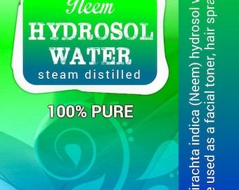 Neem hydrosol steam distilled in small batches