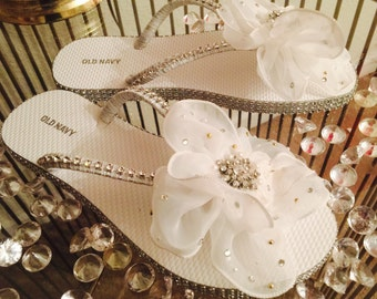 Beautiful Bride's Flip Flops