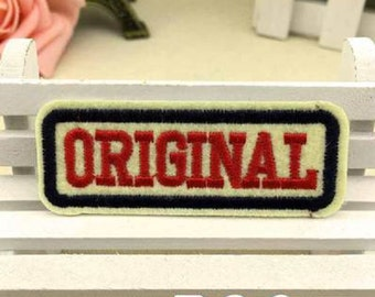 Words Patch Original Embroidered Iron-on Patches Sew-On Applique Sewing Supplies Fashion Acessories