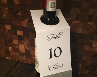Wine Bottle Table Card Numbers