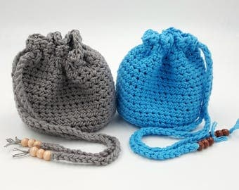 Crocheted Pouch, Crocheted Bag, Dice Bag, Trinket Bag, Jewelry Bag, Crystal Bag, Crystal Pouch, Gift Bag, Coin Purse, Treasure Bag