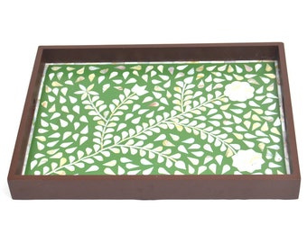Mother of Pearl Heritage V2M Green Tray