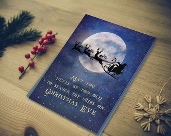 40% OFF | Christmas Card | Santa's Sleigh in the Sky