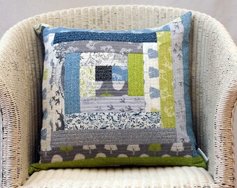 In The Country Handmade Patchwork Quilted Cushion Cover