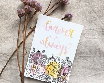 VALENTINES CARD | Forever & Always