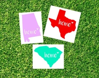 Home state decal | State vinyl decal | Home state car decal | Home decal | Home is where the heart is decal | Car decal | Cup decal
