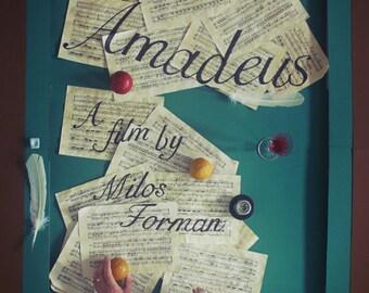 Amadeus poster A4, artwork by Jordan Bolton
