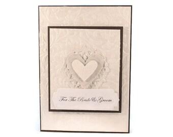 Wedding Card, Card For Bride and Groom, Wedding Gift, Wedding Shower, Elegant Wedding Card, Wedding Couple Card, Bridal Shower Card,