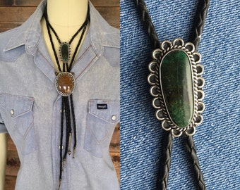 Sliver Bolo Tie with Turquoise Stone