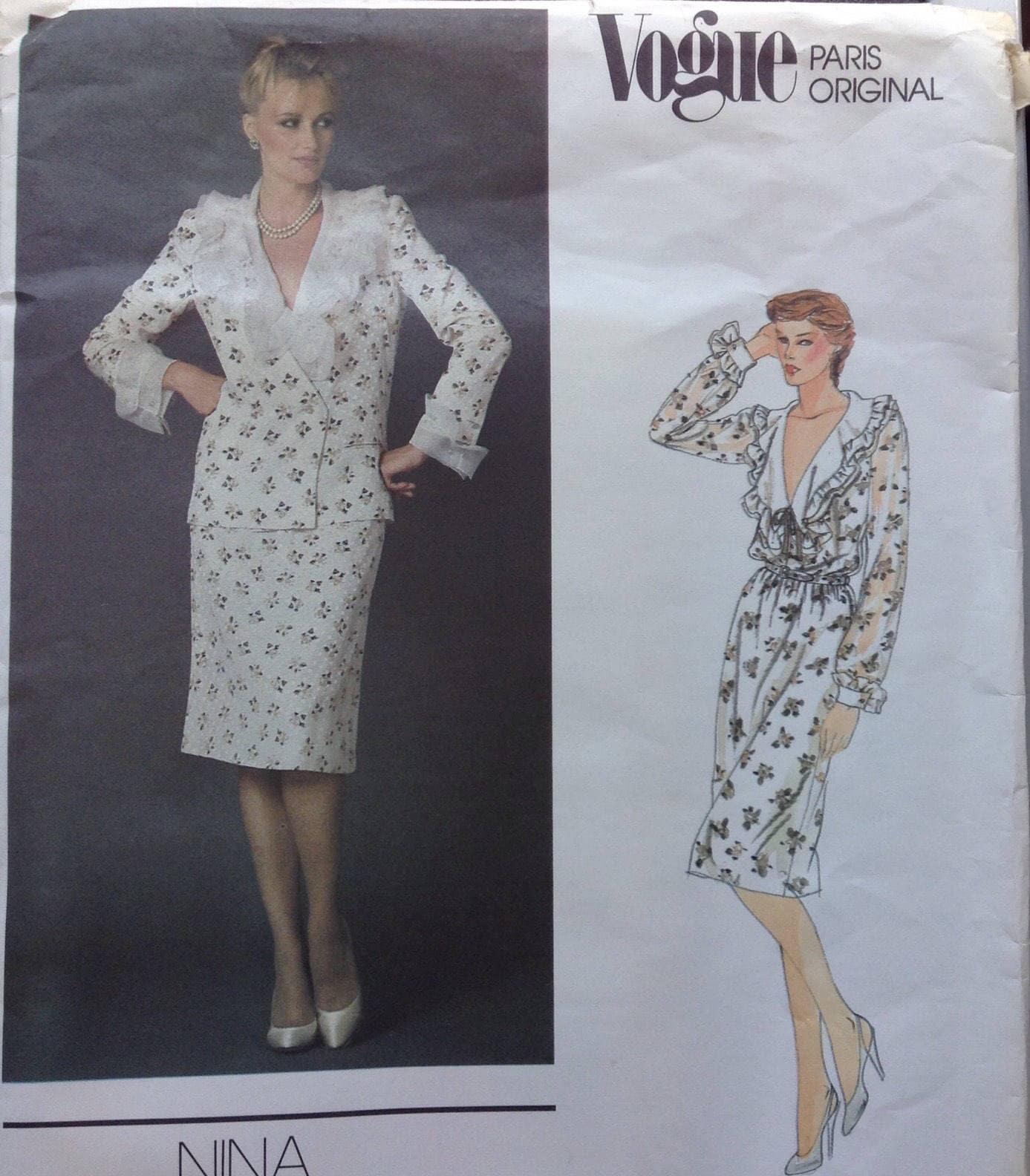 c9b681a853 Dazzyling Designer summer suit ensemble Vogue sewing pattern from  Followlight on Etsy Studio