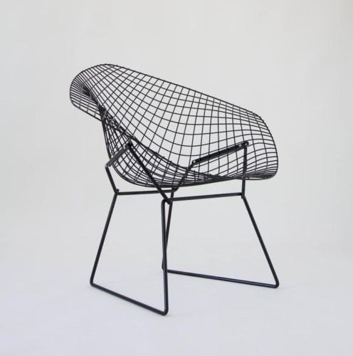 SOLD Pair Of Iconic Mid Century Modern Diamond Lounge Chairs Designed By  Harry Bertoia For Knoll