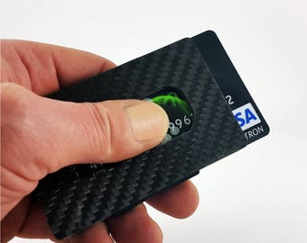 Carbon Fiber Wallet , Minimalist Wallet RFID Blocking, Slim Wallet, Front Pocket Wallet for Men and Women!