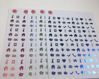 Foil Icon Stickers