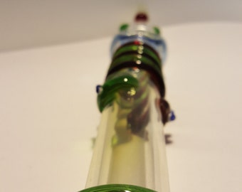 Snake Twirls Glass Tobacco Pipe