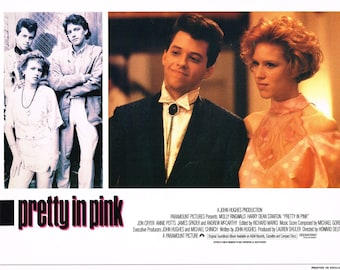 "Pretty In Pink 1986 11"" x 14"" UK lobby card"