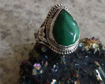 Malachite Ring Size 6 1/2