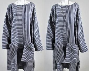 1970's authentic KOOS Van Den Akker Linnen pocket dress Vintage A1