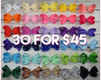 Hair Bows/8 inch bow /BEST SELLER/30 colors----Simply Sweet-Large hair bow/ Boutique bows/girl bows  Large hair bow/ Boutique bows/girl bows