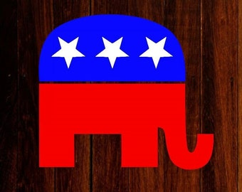 republican elephant vinyl decal, republican decal, elephant decal, republican decal, political decal, laptop decal, car decal, yeti decal