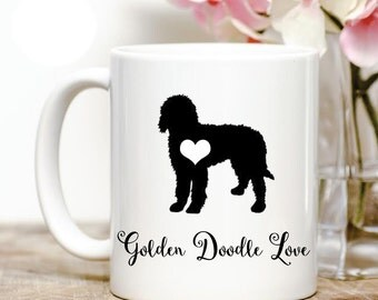 Golden Doodle love Coffee Mug