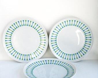"Paul McCobb Contempri Eclipse 10.25"" Dinner Plates Set of 3"