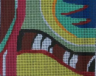 "Handpainted Needlepoint Julie Pischke #135K ""Abstract"""