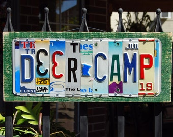 DEER CAMP license plate sign, hunting, fishing/Father's Day gift