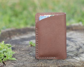 Card holder leather Brown wallet Leather card holder Mens wallet Travel accessories Small leather wallet cardholder business