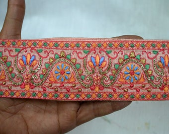 Indian Laces and Trims Saree Border Fabric Trim By The Yard Embroidered Wholesale Trimmings Ribbon Indian Sari Border gold indian trim