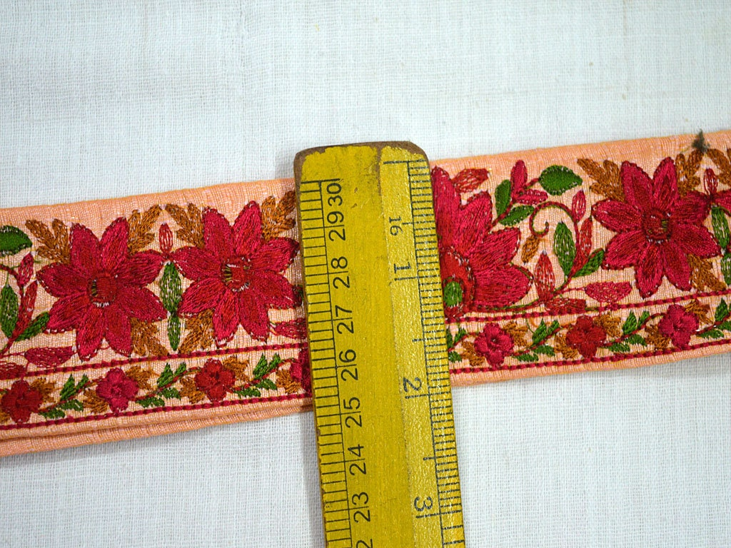 Embroidered Decorative Trim By The Yard Indian Sari Border Craft ...